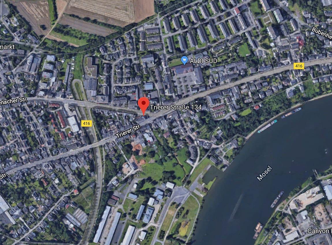 Google-Standort LED-Videowand Koblenz-Metternich, Trierer Str. 134