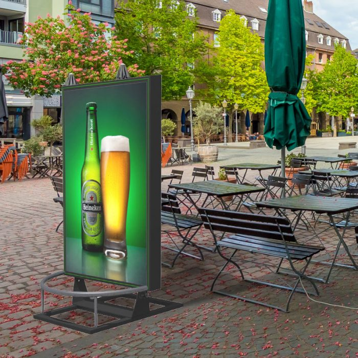 Magic Mirror outdoor, outdoor LED-Werbefläche, LED-Plakat