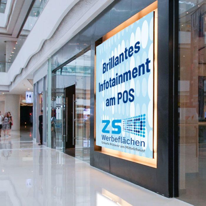 LED Videowall indoor, Infotainment am POS, digital signage