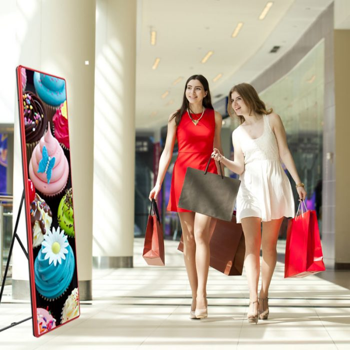 LED-Lösung für Ihre Werbung, digitale Beschilderung am Point Of Sales, Magic Mirror Indoor, LED Wand