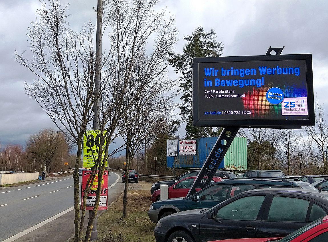 Digitales Plakat Plaidt Fahrtrichtung Andernach
