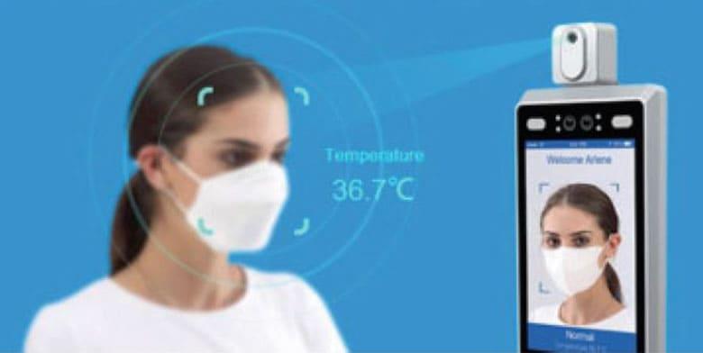 Sicherheits-System mit Temperaturkontrolle und Gesichtserkennung